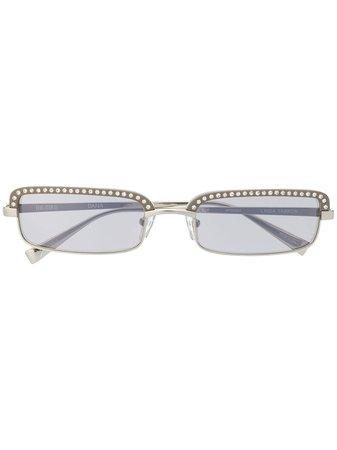 Linda Farrow Attico 5 Rectangular Frame Sunglasses - Farfetch