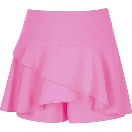 Neon Pink Ruffle Skirt
