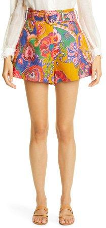 The Lovestruck Paisley Linen Shorts