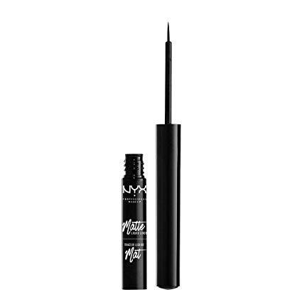 NYX Professional Makeup Matte Liquid Eyeliner, Black : Beauty