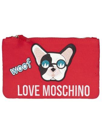 Love Moschino Dog Patch Clutch
