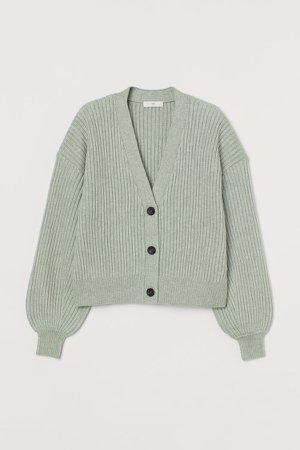 Knit Cardigan - Green