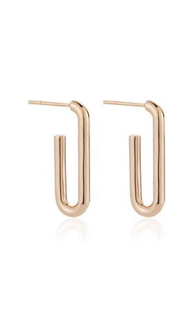 Saxon 18k Rose-Gold Single Chain Link Earrings By Walters Faith   Moda Operandi