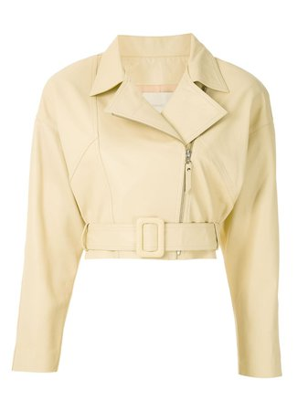 Framed Perfecto Deli Leather Jacket 330921 Yellow | Farfetch