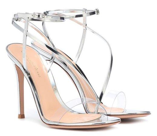 GIANVITO ROSSI Silver Plexi Heels