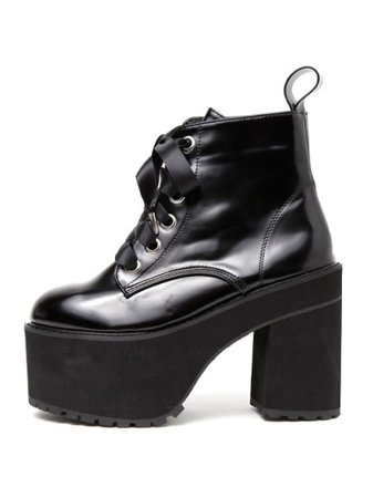 Satin Lace Up Boots (Shoes (Shoes) / Short Boots) | Mail Order of BUBBLES (Bubbles) | Fashion Walker