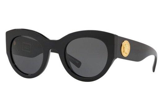 VERSACE EYEWEAR Tribute oversized-frame sunglasses