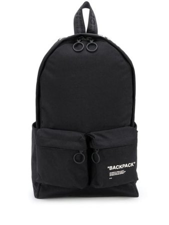 Off-White Logo Print Backpack OMNB003R205210381001 Black | Farfetch