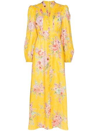 Zimmermann Zinnia Floral Print Maxi Dress - Farfetch