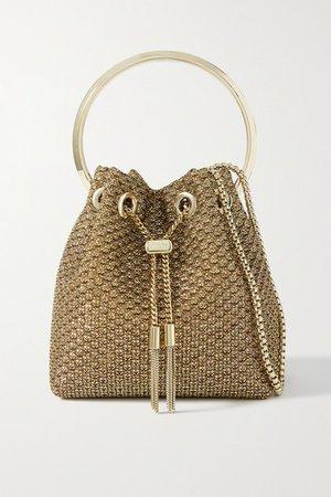 Bon Bon Lurex Bucket Bag - Gold