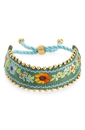 Tory Burch Embroidered Friendship Bracelet | Nordstrom