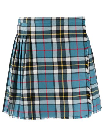 Acne Studios Plaid Pleated Mini Skirt - Farfetch