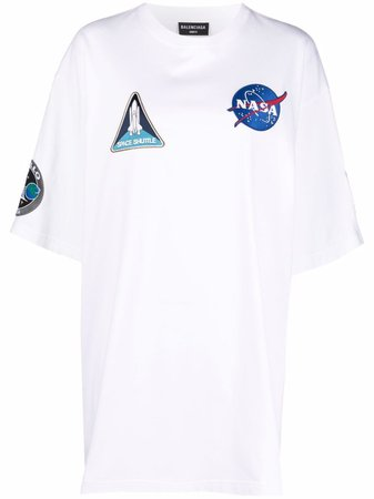 Balenciaga t-shirt à Patchs Space - Farfetch
