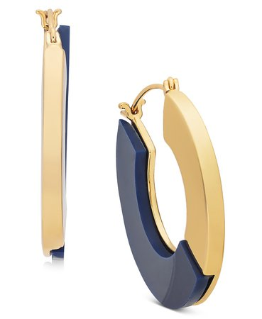 "Alfani Gold-Tone & Colored Medium Flat Hoop Earrings, 1.5"", Created for Macy's & Reviews - Earrings - Jewelry & Watches - Macy's"