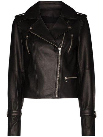 PAIGE Rayven Leather Biker Jacket - Farfetch