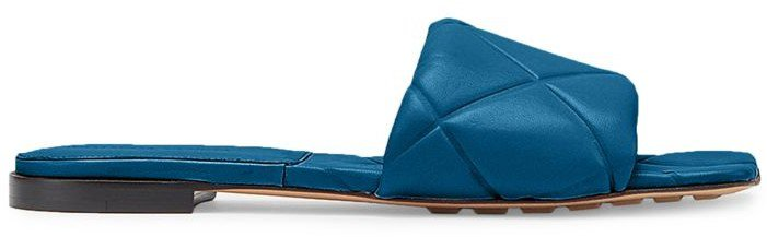 Quilted Leather Flat Sandals