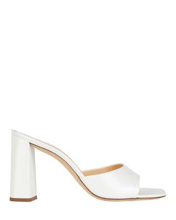BY FAR Juju Leather Slide Sandals | INTERMIX®