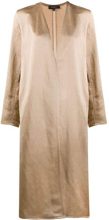 Antonelli open-front midi coat