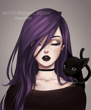 anime girl with purple hair - Google Search