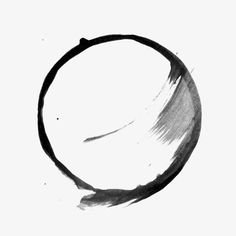 black paint stroke circle
