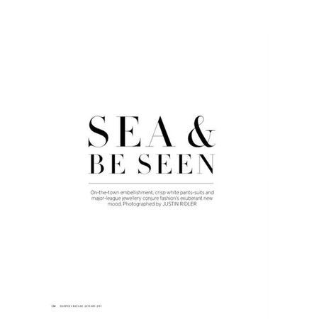 Sea and be seen text