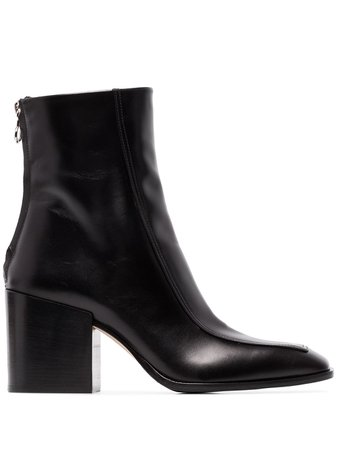 Aeyde Lidia 80Mm Leather Ankle Boots LIDIACALF Black | Farfetch