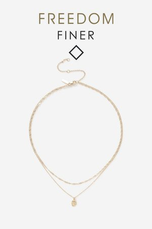 **Leaf Multirow Necklace | Topshop