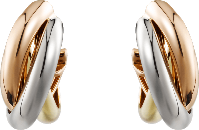 CR80083231 - Trinity earrings - White gold, yellow gold, pink gold - Cartier