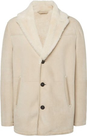 Brioni Shearling Button Up Jacket