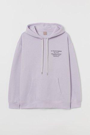 H&M+ Printed Hoodie - Purple