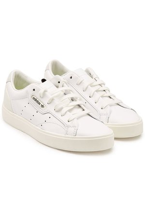 Adidas Originals - Sleek Leather Sneakers - white
