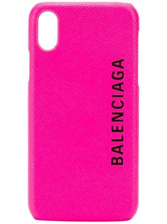 Balenciaga Funda Para iPhone X Con Logo Estampado - Farfetch