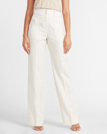 Super High Waisted Button Fly Trouser Pant