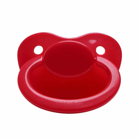 Plain red pacifier