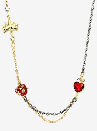 Disney Snow White And The Seven Dwarfs Evil Queen Charms Necklace