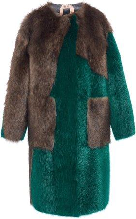 N21 Eco Fur Coat