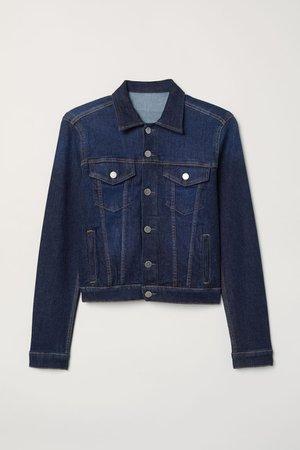 Denim Jacket - Dark denim blue - Ladies | H&M US