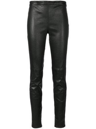 Saint Laurent mid-rise fitted leggings