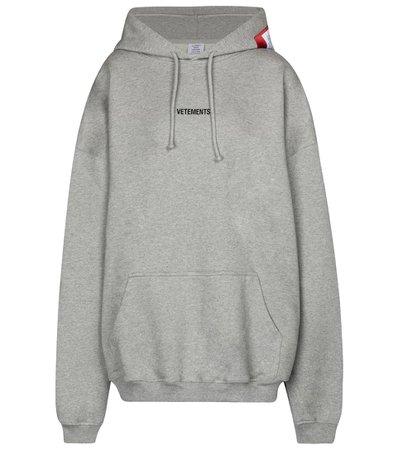 Vetements - Logo cotton-blend hoodie | Mytheresa