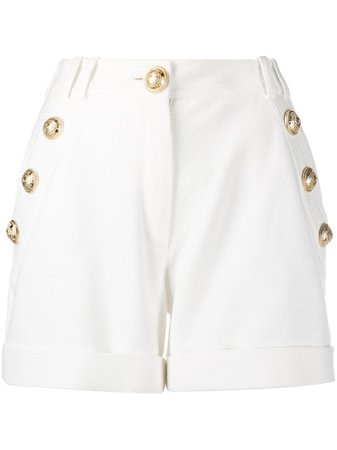 Shop white Balmain embossed buttons shorts with Afterpay - Farfetch Australia
