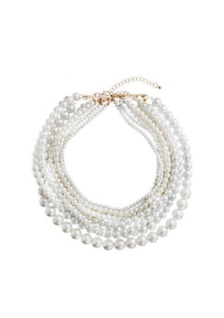 Crown & Ivy™ Pearl Rows Necklace