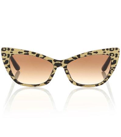 Leopard-Print Cat-Eye Sunglasses - Dolce & Gabbana | Mytheresa