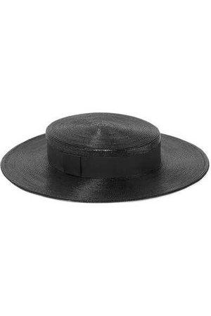 Saint Laurent | Grosgrain-trimmed straw hat | NET-A-PORTER.COM