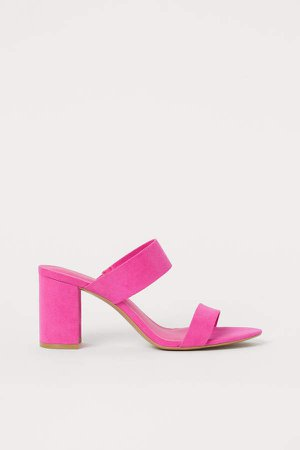 Block-heeled Sandals - Pink