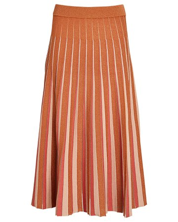Jonathan Simkhai Gigi Pleated Knit Midi Skirt | INTERMIX®