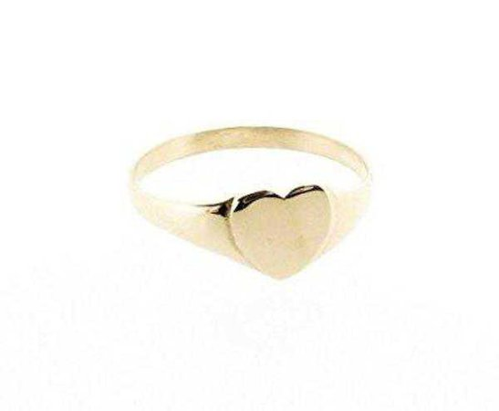 Tidy Street General Store Heart Ring- 9ct Gold | Garmentory