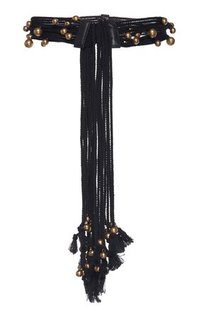 Philosophy di Lorenzo Serafini Beaded Cotton Rope Belt