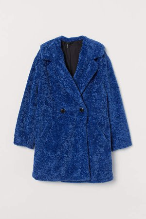 Faux Fur Jacket - Blue