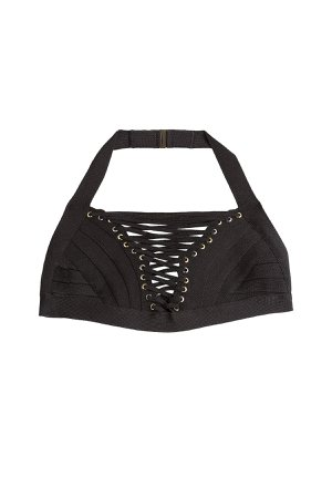Bandage Bikini Top with Lace-Up Front Gr. M