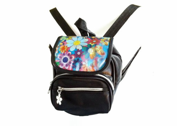 90's Holographic Butterflies & Flowers Mini Backpack